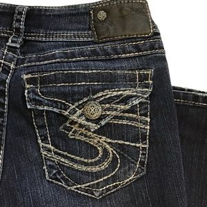 SILVER JEANS Suki Surplus Flap Pocket Boot Size 27